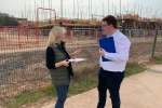 Gary with Cllr Debbie Clancy at a Building Site