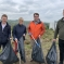 Gary Sambrook and Andy Street on a litter pick